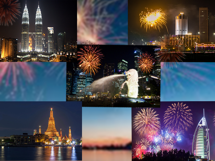 Five Countries New Year Holiday Travel and Tour Package 2017-2018