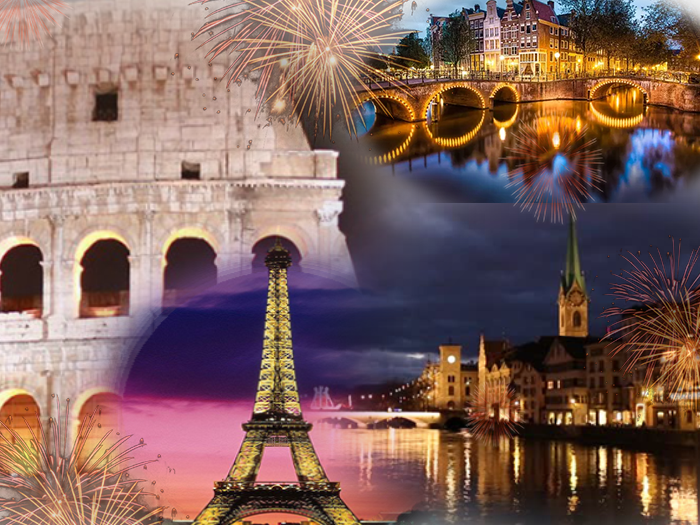 Europe New Year 4 Countries Holiday Travel and Tour Package 2017-2018