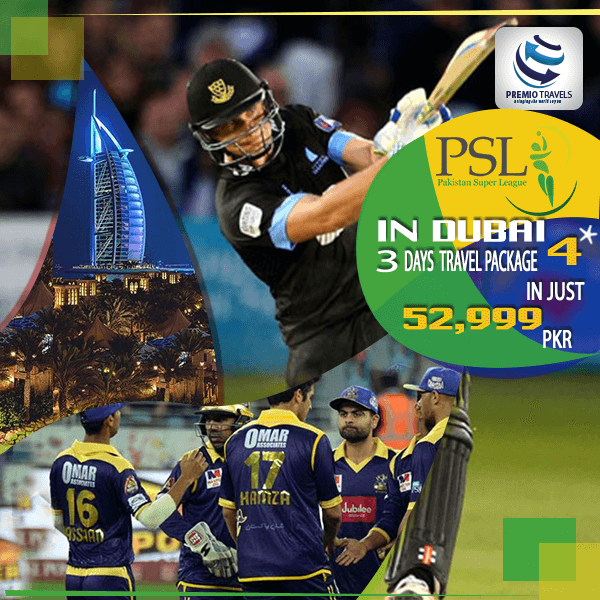 PSL 4**** Holiday Travel and Tour Package for 3 days