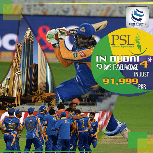 PSL 4**** Holiday Travel and Tour Package for 9 days