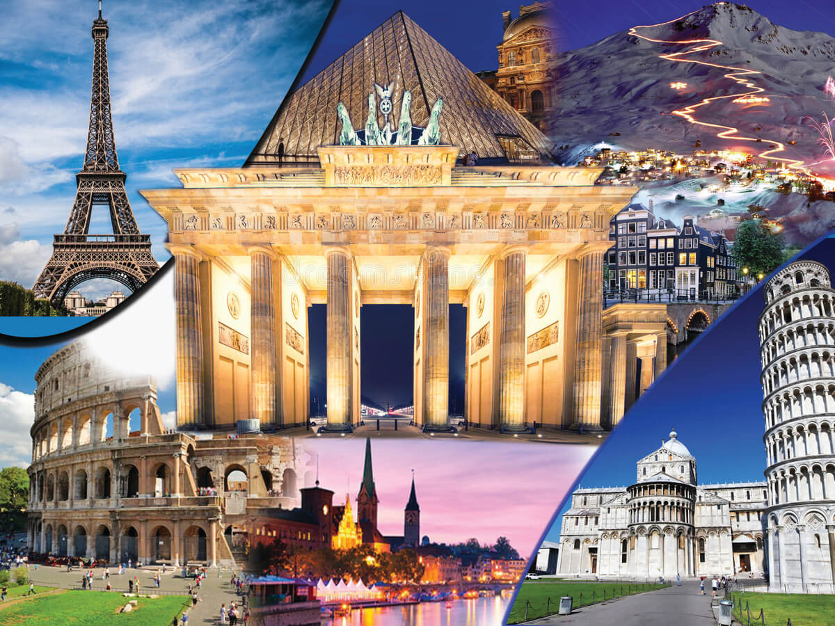 Europe Summer 4 Countries Holiday Travel and Tour Package